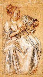 Seated Woman, by Watteau