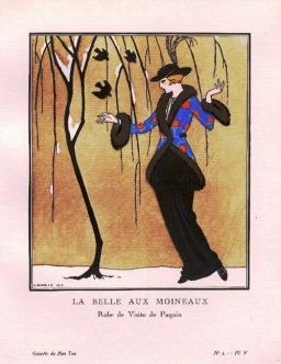 La Belle aux Moineaux by George Barbier