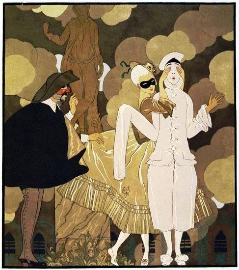Brighella & Pierrot, George Barbier
