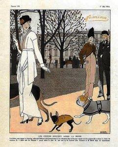 Les Chiens suivent aussi la mode, Bernard B. de Monvel