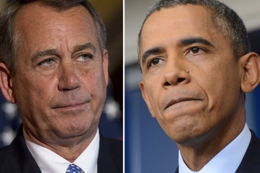 John Boehner and President Barack Obama