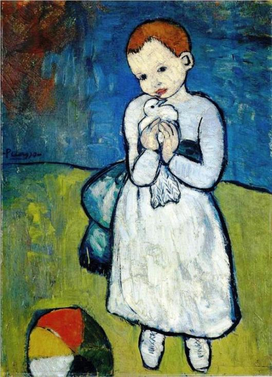 Child with Dove by Picasso, 1901