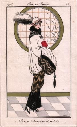 Parure d'hermine et de putois, George Barbier, 1913