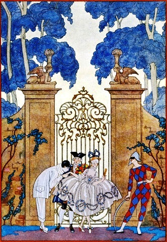 Pierrot et Arlequin, George Barbier