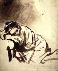 Hendrickje Sleeping, Rembrandt Photo credit: Wikipaintings