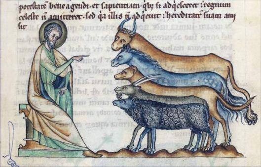 Physiologus Cambrai, vers 1270-1275 Douai, Bibliothèque municipale, ms. 711, fol. 17