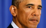 U.S. President Barack Obama delivers a statement from Martha's Vineyard