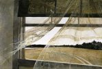 """""""Wind from the Sea, 1947"""" is on exhibit at the National Gallery of Art in an exhibit """"Andrew Wyeth: looking Out, Looking In"""" through November 30, 2014. (National Gallery of Art, Washington, Gift of Charles H. Morgan, © Andrew Wyeth)"""