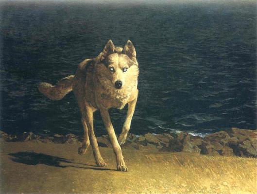 Wolf Dog, Jamie Wyeth, 1976