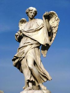 Angel bearing Veronica's Veil by Cosimo Fancelli at Ponte Sant Angelo