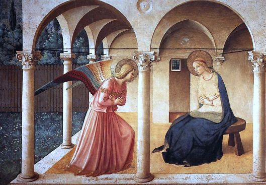 The Annunciation, Fra Angelico, 1437-46 (Photo Credit: Wikipedia)
