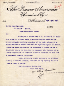 Mignault-Borden_22e_Regiment_Letter