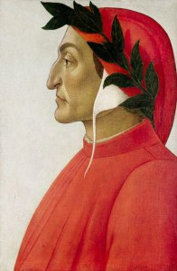 Portrait of Dante by Sandro Botticello