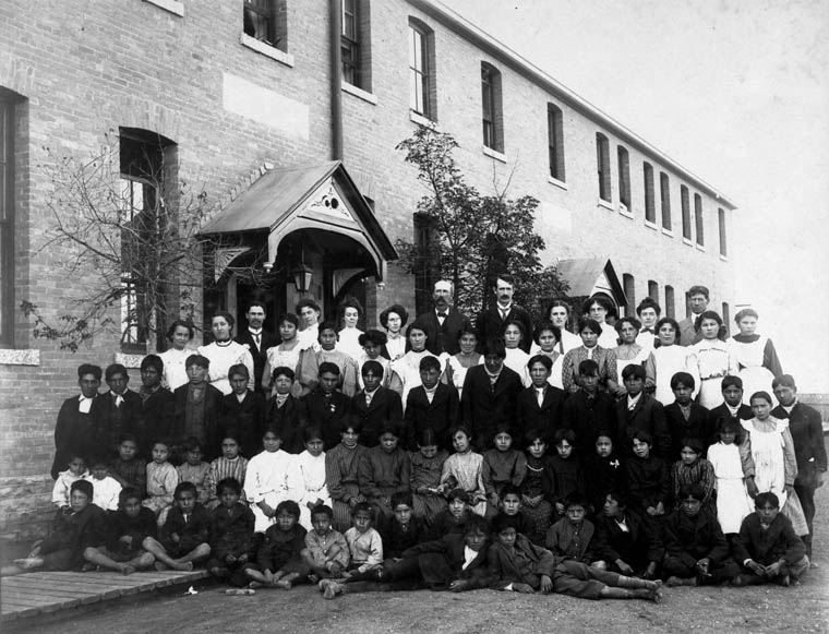 Residential school group photograph, Regina, Saskatchewan 1908