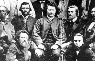 """louis riel and candian sovereignty In this sense, louis riel is a lot like a canadian version of henry wadsworth's longfellow's """"the song of hiawatha,"""" a 1855 epic poem about a noble indigenous leader who, before he and his people recede into the mists of history, he sits down with some strangers—representing americans as a whole—to gift them his lands, his culture."""