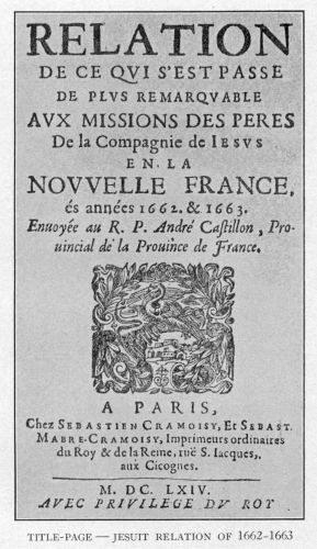 Cover of the Jesuit Relations, 1632 (Photo credit: Wikipedia)