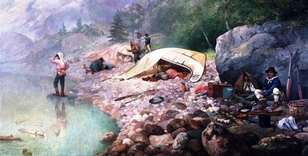 Voyageurs at Dawn by Frances Anne Hopkins