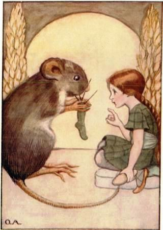 Thumbelina came to live with the Field-Mouse (Gutenberg [EBook 19993])