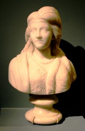 Minnehaha, by Edmonia Lewis, marble, 1868, Newark Museum.