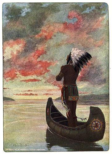 Westward, Westward, Hiawathat sailed into the fiery sunset