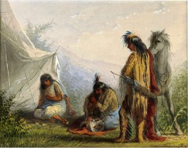 Indian Courtship by Jacob Alfred Miller