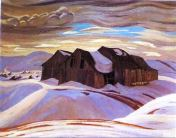 Barns by A. Y. Jackson (Photo credit: wikiart.org)