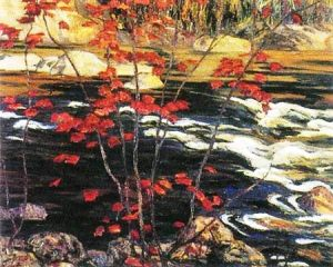 The Red Maple by A. Y. Jackson, 1914 (Photo credit: Wikipedia)