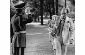 Justin Trudeau and his father, the Right Honourable Pierre Elliott Trudeau