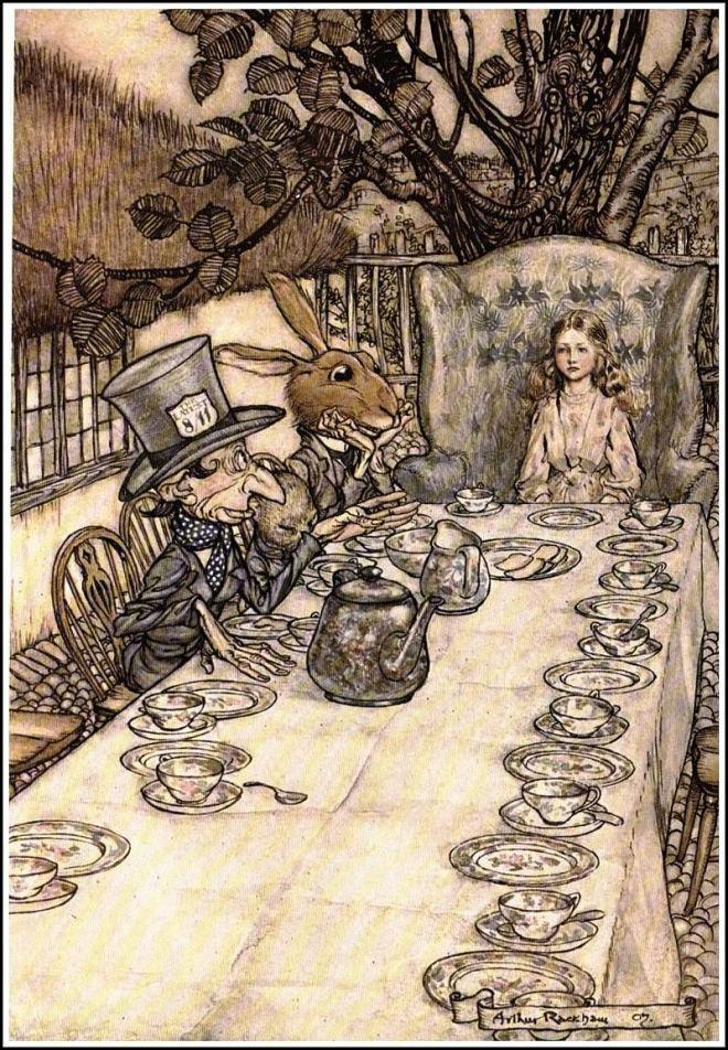 A Mad Tea-Party by Arthur Rackham (Photo credit: Wikimedia.org)