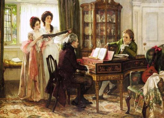 margaret-isabel-dicksee-1858-1903-sheridan-at-the-linleys-1899