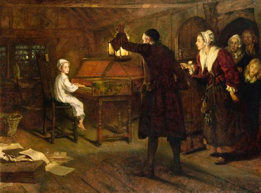 The Child Handel by Margaret Isabel Dicksee, 1893