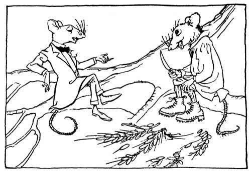 Town mouse and country mouse by Arthur Rackham
