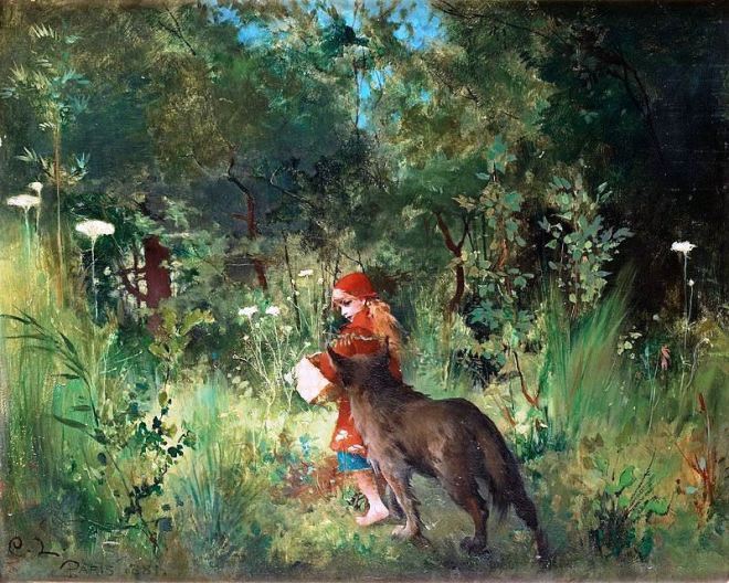 The Little Red Riding Hood by Carl Larsson