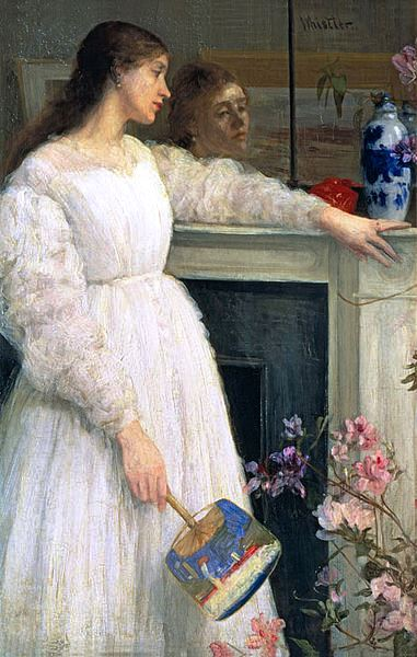 Cult of Beauty or Symphony in White no 2 (The Little White Girl) by James McNeill Whistler