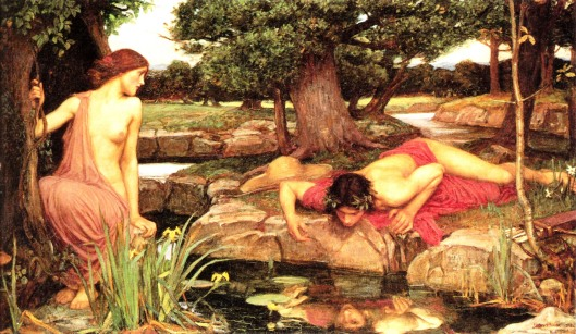 Echo and Narcissus by John William Waterhouse, 1903 (Photo credit: WikiArt)