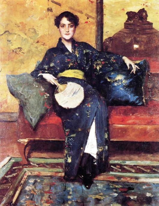 The Blue Kimono by William Meritt Chase, 1898 (Photo credit: WikiArt.org)