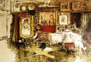 The Teenth Street Studio by William Merrit Chase http://www.wikiart.org/en/william-merritt-chase/the-tenth-street-studio-1915