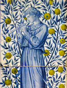 William Morris design, adapted by Charles Fairfax Murray, c. 1870