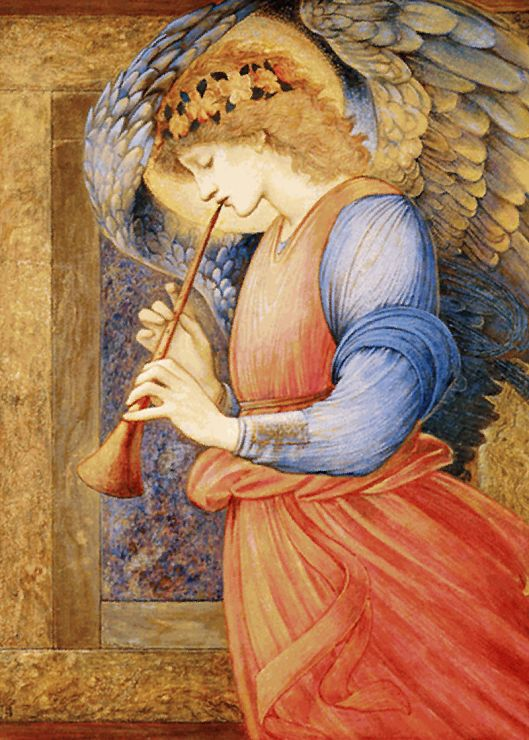 800px-Edward_Burne-Jones_-_An_Angel_Playing_a_Flageolet