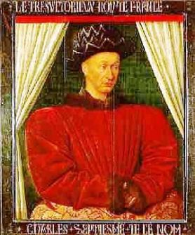 Charles VII by Jean Fouquet (Google)