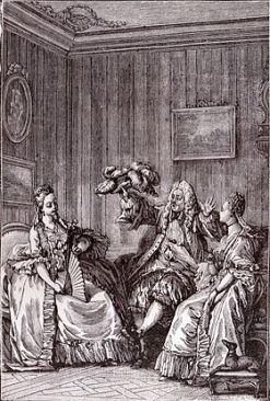 Les Précieuses ridicules by Moreau le Jeune (Wikipedia)