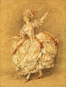 A Dancer by Moreau le Jeune