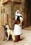 Arnaut with two wippet dogs, Jean-Léon Gérôme (Pinterest)