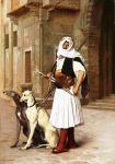 Arnaut with two wippet dogs, Jean-Léon Gérôme (Pinterest)