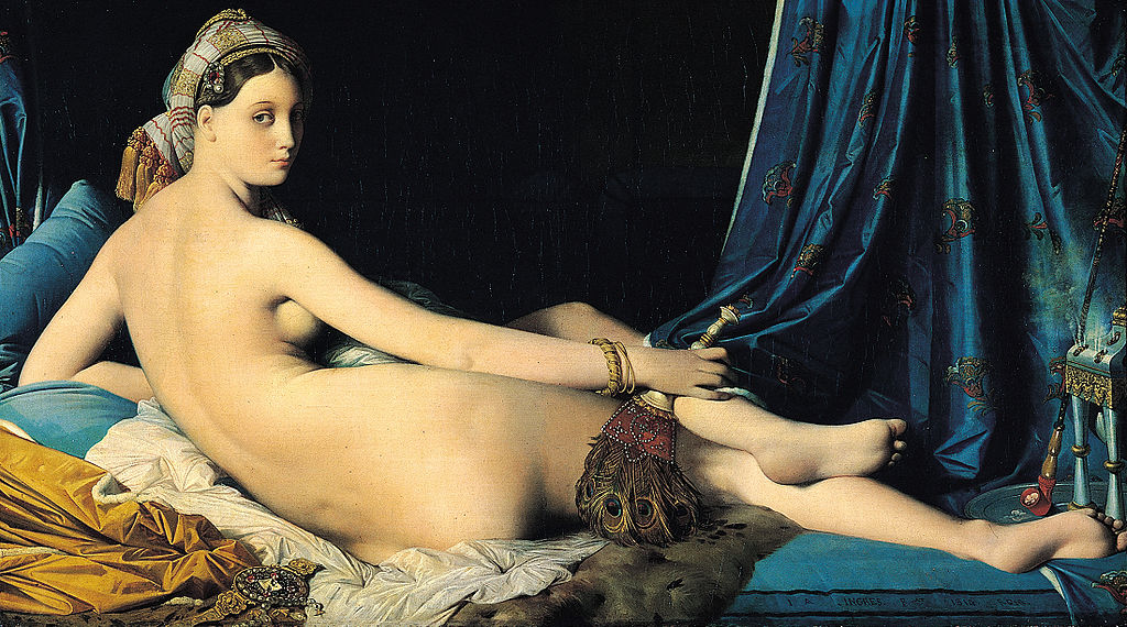 What student of david was known for his luxuriant female nudes including the exotic odalisque