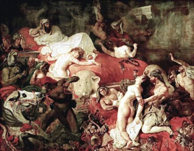 Death of Sardanapalus, 1827