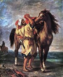 Arab Saddling his Horse, 1855