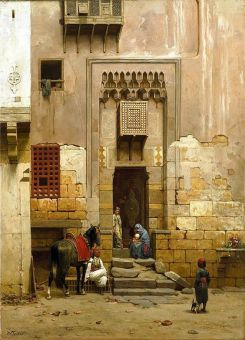 Courtyard of House in Cairo, Willem de Farmas Festas, 1859