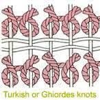 Turkish Ghiordes knots