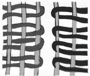 Kilim slit weave